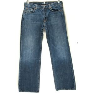 7 For All Mankind - Relaxed - Button Fly - Sz 34